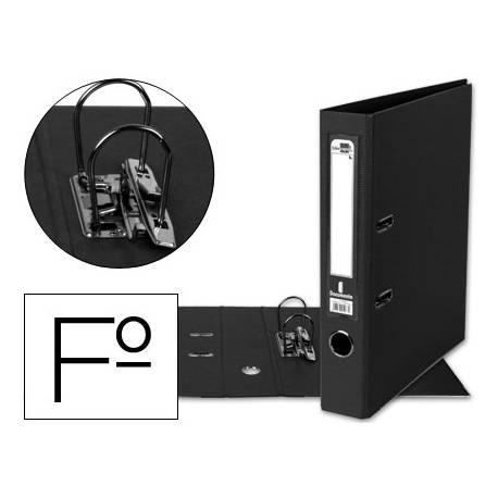Archivador de palanca Liderpapel folio color negro compresor