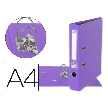 Archivador de palanca marca Liderpapel A4 lila compresor metalico