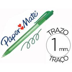 Boligrafo Paper Mate Inkjoy 100 retráctil verde 1 mm