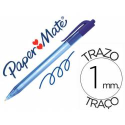 Boligrafo Paper Mate Inkjoy 100 retráctil azul 1 mm