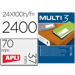Etiquetas adhesivas marca Apli Multi3 70x37 mm A4
