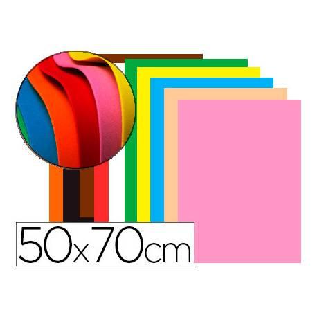 Goma Eva Liderpapel 50x70 cm 60 gr Espesor de 1,5 mm Colores Surtidos