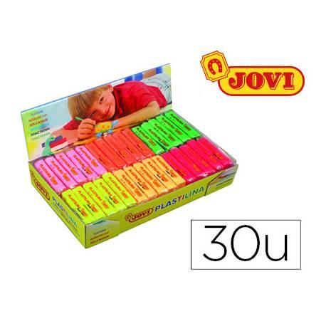 Plastilina Jovi Fluorescentes pequeñas Caja de 30 unidades colores surtidos