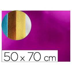 Goma eva Liderpapel Metalizada Rosa 50x70 cm