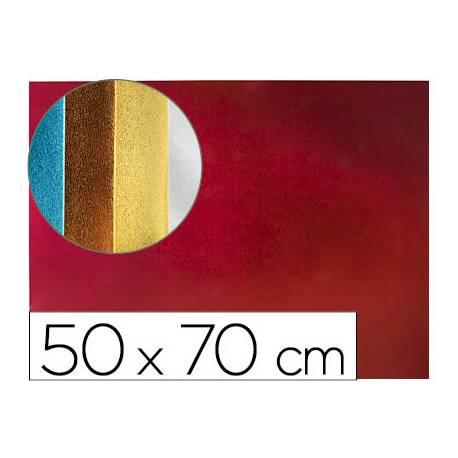 Goma eva Liderpapel Metalizada Rojo 50X70