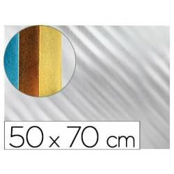 Goma eva Liderpapel Metalizada Plata 50X70