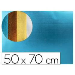 Goma eva Liderpapel Metalizada Azul Claro 50x70 cm