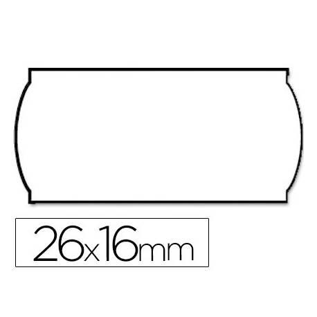 Etiquetas marca Meto onduladas 26 x 16 mm