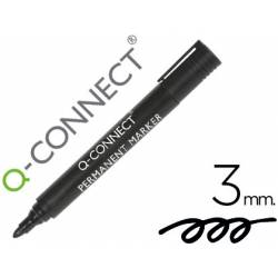 Rotulador Q-Connect punta de fibra permanente 3 mm color negro
