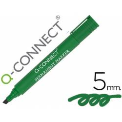 Rotulador Q-Connect Punta de Fibra Permanente Color Verde 5 mm