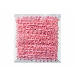 Hilo con perlas rosa 4,5 mt itKrea