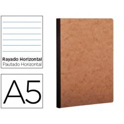 Libreta Clarefontaine color havana A5 tapa cartulina rayado horizontal 96 hojas