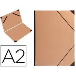 Carpeta planos marca Clairefontaine Din A2 con gomas marrón