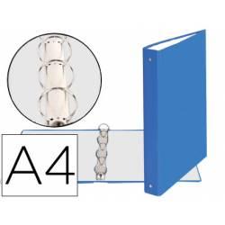 Carpeta Exacompta carton azul claro 4 anillas