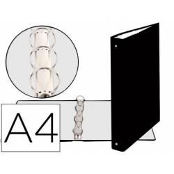 Carpeta Exacompta carton negra 4 anillas