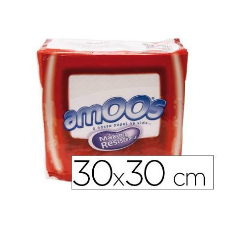 Servilletas de papel Amoos blanco medidas 30x30 cm