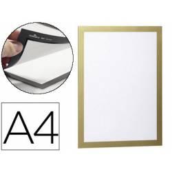 Porta anuncios Durable magnético adhesivo A4 oro