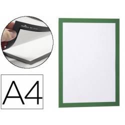 Porta anuncios Durable magnetico adhesivo A4 verde