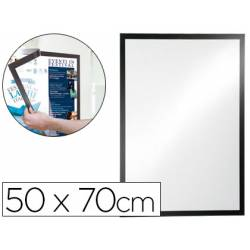 Porta anuncios DURABLE magnetico adhesivo negro