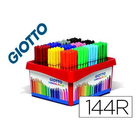 Rotulador marca Giotto turbo Schoolpack 12 colores surtidos. Caja 144 rotuladores