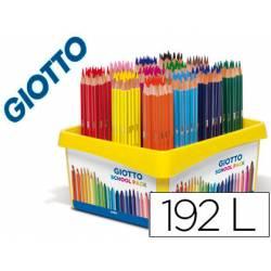 Lapices de colores marca Giotto Stilnovo School pack de 192 unidades 12 colores x 16 unidades