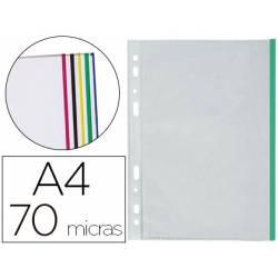 Funda multitaladro Marca Q-Connect DIN A4 Colores surtidos 25 fundas