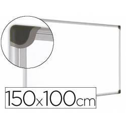 Pizarra Blanca Vitrificada Magnetica con marco de aluminio 150x100 Bi-Office