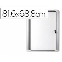 Vitrina anuncio Bi-0ffice magnetica para exterior con marco de aluminio y cerradura