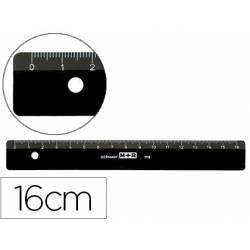 Regla plástico negra Marca M+R