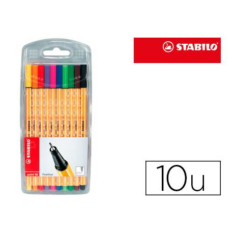 Rotulador Stabilo Point 88 Estuche 10 Colores