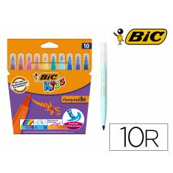 Rotulador Bic Kid Visaquarelle Punta Fina Extraflexible Pack 10 unidades