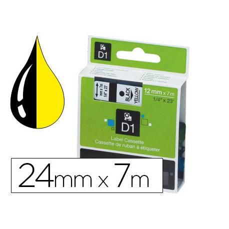Cinta marca Dymo consumible rotuladora negro-amarillo D1
