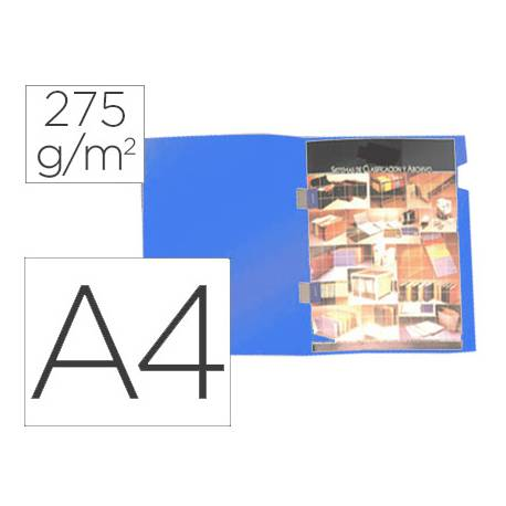 Subcarpeta Gio Plastificada Din A4 color azul con cubregrapas