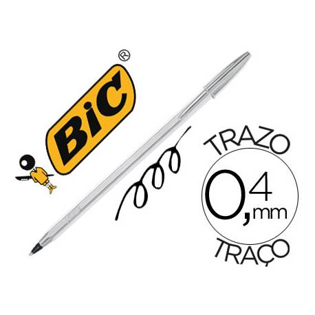 Boligrafo Bic Cristal Celebration Plata 0,4 mm Tinta Negra