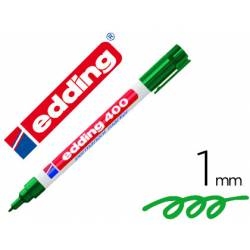 Rotulador Permanente Edding 400 Color Verde Punta Fina