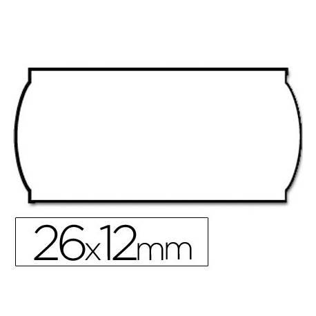 Etiquetas marca Meto onduladas 26 x 12 mm troqueladas