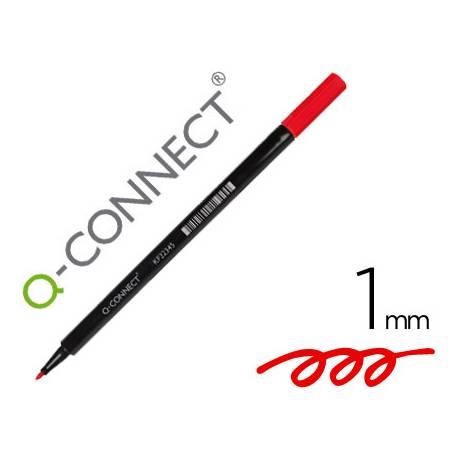 Rotulador Q-Connect punta de fibra redonda 1mm color rojo