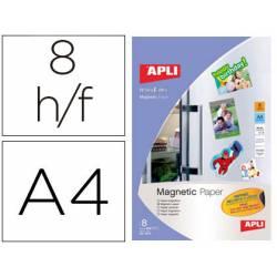 Papel magnetico marca Apli blanco Din A4