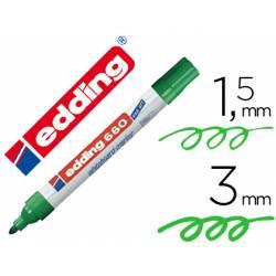 Rotulador para pizarra blanca Edding 660 verde recargable