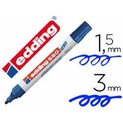 Rotulador para pizarra blanca Edding 660 azul recargable