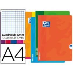 Libreta escolar Oxford encolada Din A4 cuadricula 5mm 48 hojas colores surtidos