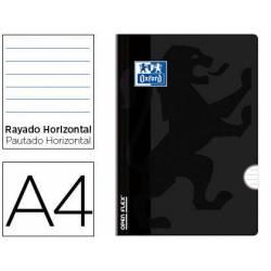 Libreta Escolar Oxford DIN A4 48 hojas Rayado horizontal Negro