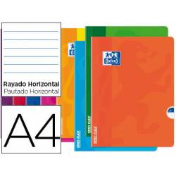 Libreta Escolar Oxford DIN A4 48 hojas Rayado horizontal Colores Surtidos