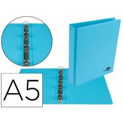 Carpeta 4 Anillas Liderpapel A5 Color Azul 25 mm