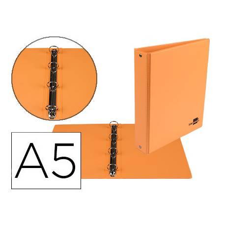 Carpeta 4 Anillas Liderpapel A5 Color Naranja 25 mm