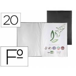 Carpeta escaparate Liderpapel folio con 20 fundas fijas