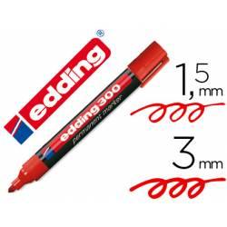 Rotulador Permanente Edding 300 Color Rojo Punta Redonda