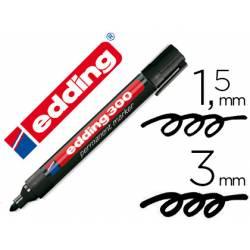 Rotulador Permanente Edding 300 Color Negro Punta Redonda