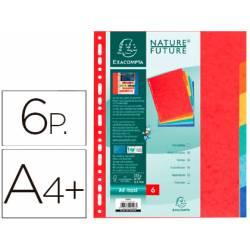 Separadores cartulina Exacompta Din A4+ juego de 6 colores