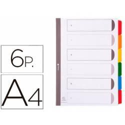 Separadores cartulina Exacompta Din A4 juego de 6 color blanco